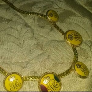 JC w/Crown gold and yellow enamel